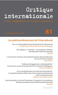 Critique internationale 81, octobre-décembre 2018