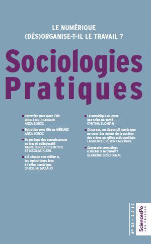 Couverture Sociologies Pratiques 34