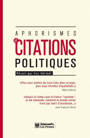 Aphorismes Et Citations Politiques Presses De Sciences Po