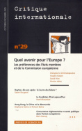 Critique internationale 29, octobre-décembre 2005